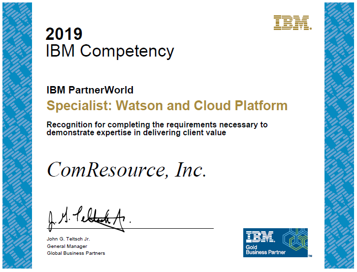 IBM Gold Partner – Level Up